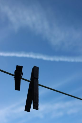 Can't gauge the perspective as nothing else in shot, but like the graphic nature of this against the vapour trails.