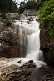Waterfall up a mountain