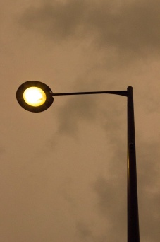 And then the street lights came on...