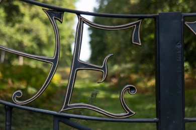 Detail of The Way Gates in Richmond Park