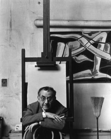 Black and white photograph of Man Ray by Arnold Newman