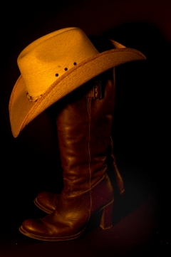 Love the colour on boots; hat brightness reduced