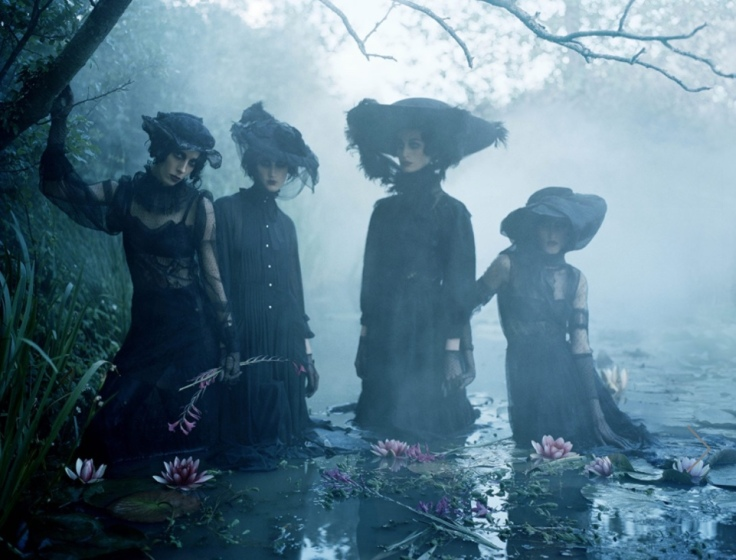Fashion shoot by Tim Walker for Italian Vogue