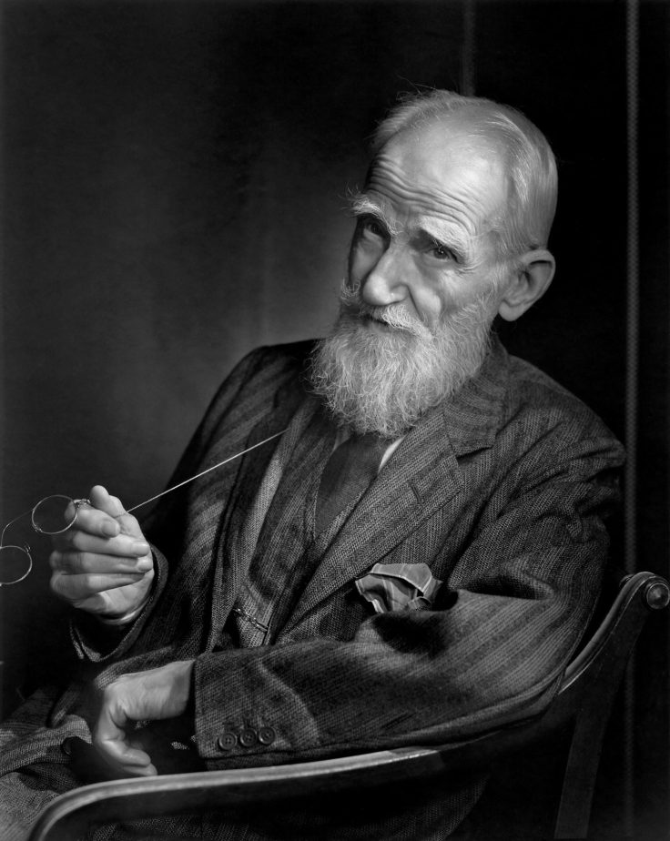 Black and white photograph of Geroge Bernard Shaw. Taken by Yousuf Karsh in 1943.
