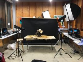 Lighting set up for final shoot