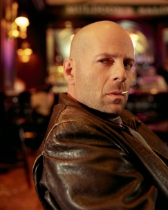 Colour photograph of the actor, Bruce Willis, by Michael O'Neill
