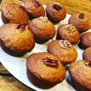 Pecan banana muffins